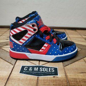 RARE Osiris Jaw Stars Stripes America Streetwear